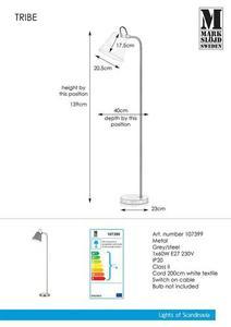 TRIBE Floor 1L Grau / Stahl small 0