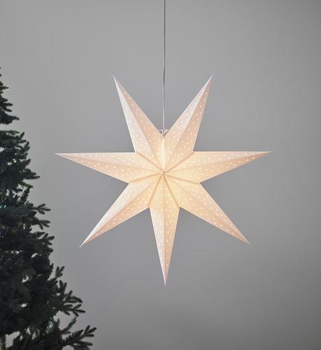 CLARA Anhänger weißer Stern 75cm
