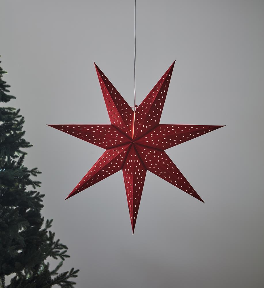 CLARA Anhänger Stern 75 Rot