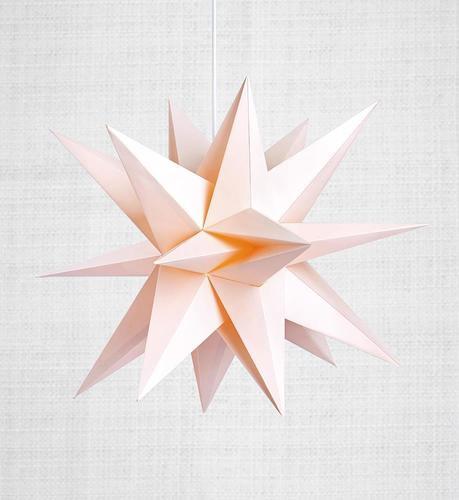 Skillinge 3D Papierstern Pink