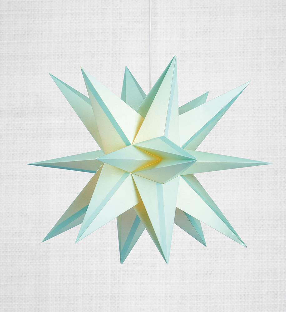 Skillinge 3D Paper Star Lightblue Anhänger