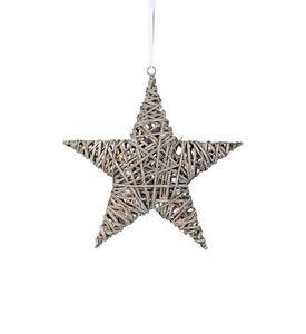 BODANE Anhänger Star Deco 40 cm Grau small 1