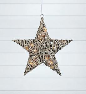 BODANE Anhänger Star Deco 40 cm Grau small 0