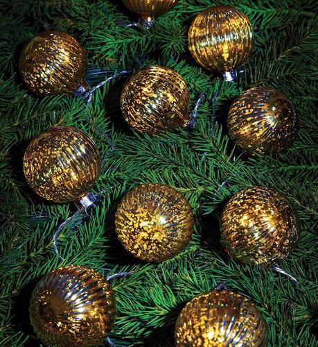 BIGSOLO Leuchtkette 10L LED Gold