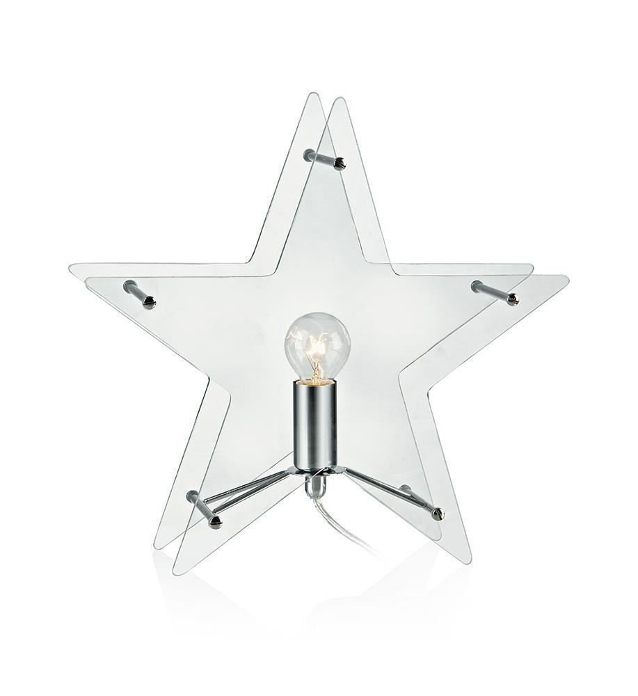 KLANG Tabledeco Glass Star E14 Durchsichtig