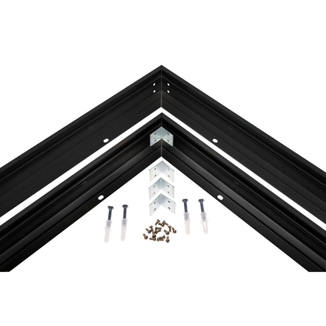 Aufputzrahmen Black Algine 600 X600
