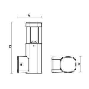Torre Led 230 V 7 W Ip54 Ww Wandmontage small 1