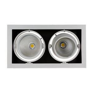 Modern Day 2 Cob 45 St 230 V 2 X15 W Ip20 Ww Downlight Silber small 0
