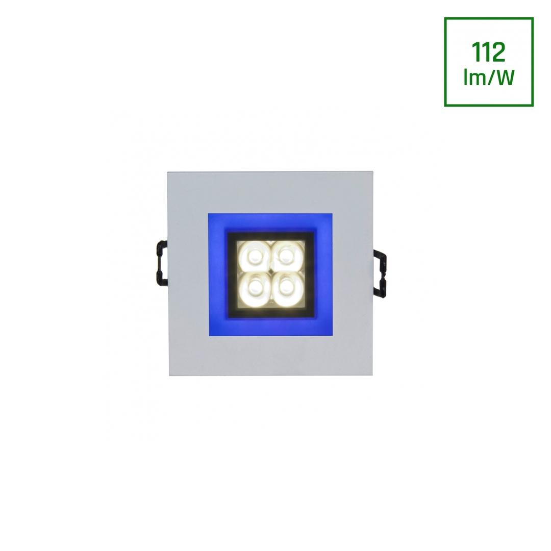 Fiale 4 Led 4 X1 W 30 St 230 V Platz Mit Blauen Cw Rahmen Leds