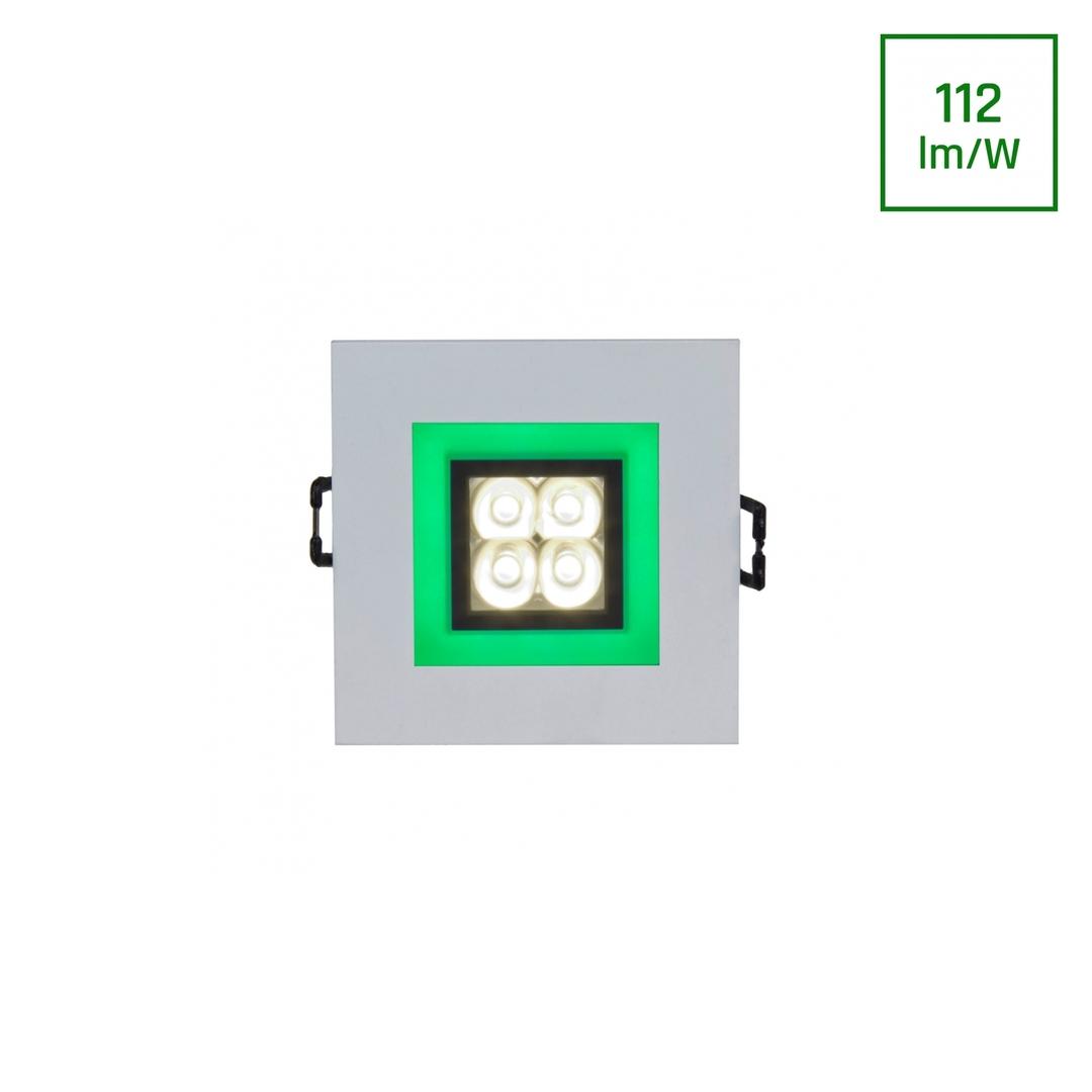 Fiale 4 Led 4 X1 W 30 St 230 V Platz Mit Grünem Rahmen Ww Leds