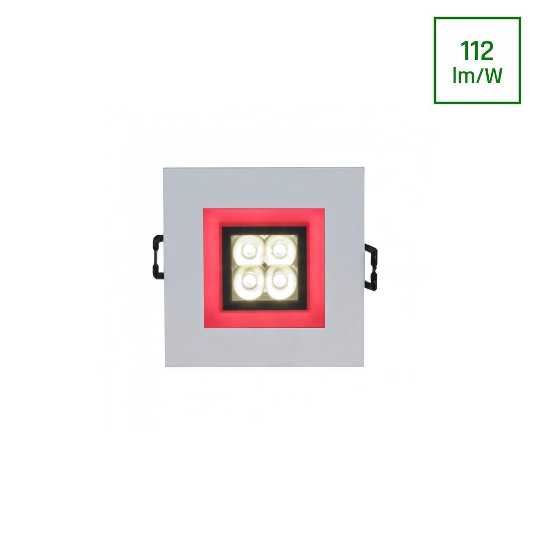 Drähte 4 LED 4 X1 W 30 St 230 V quadratisch mit rotem Rahmen in LED-Augen