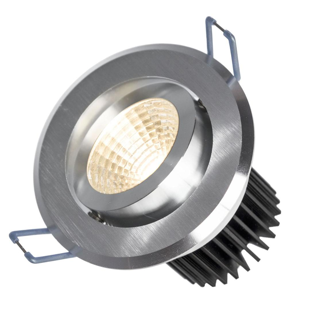 Drähte II 6 W Cob 38 St 230 V Cw Ring aus gebürstetem Aluminium