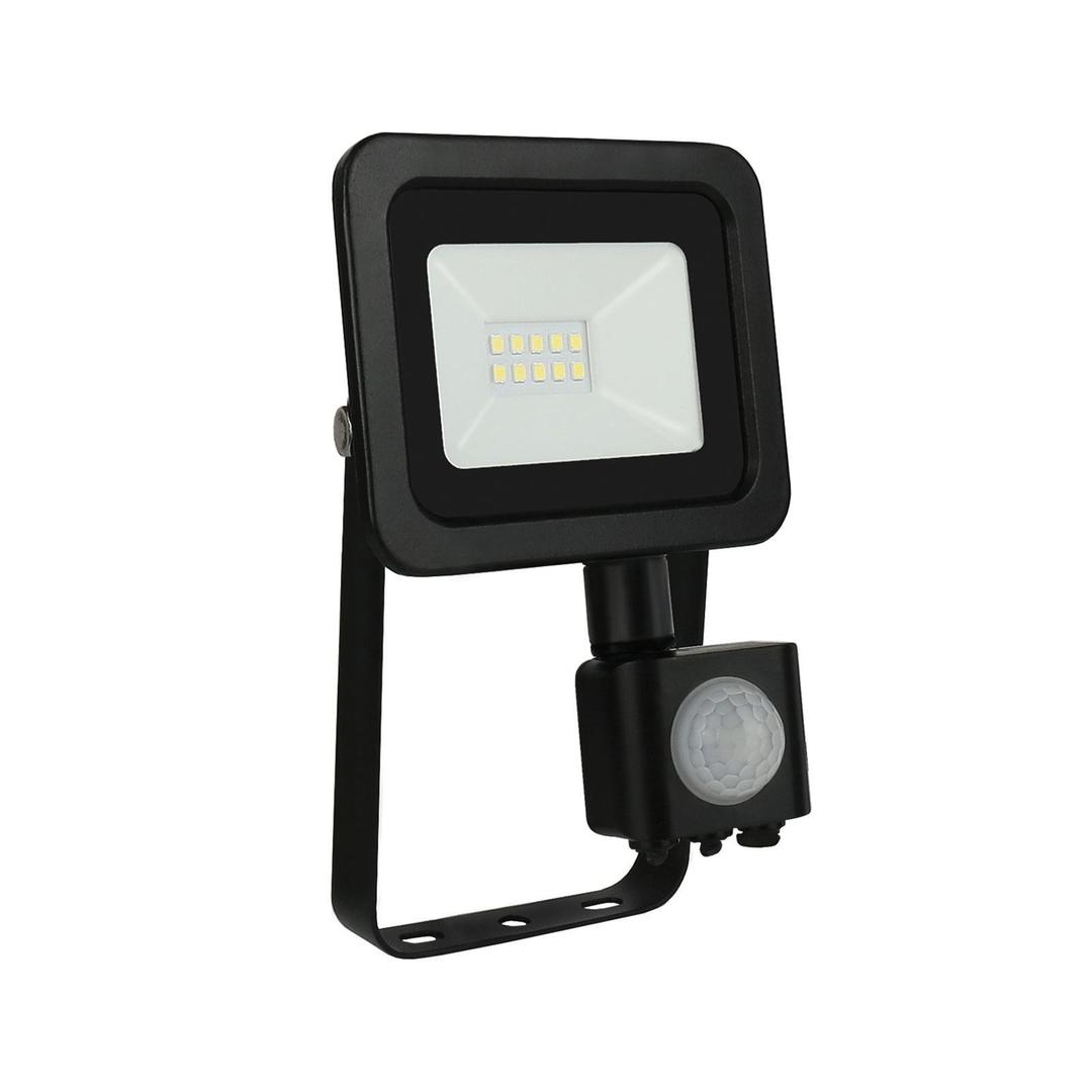 Noctis Lux 2 Smd 230 V 10 W Ip44 Cw Schwarz Mit Sensor