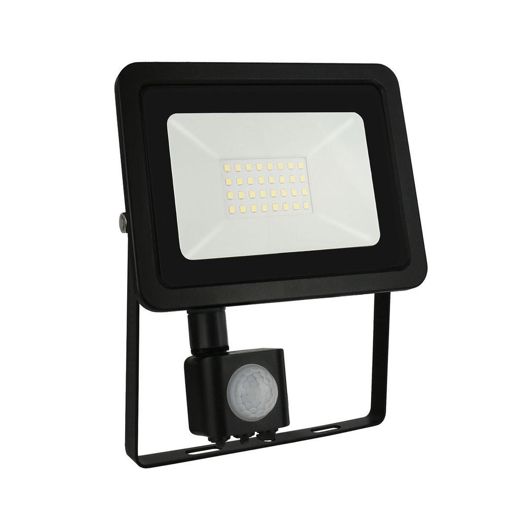 Noctis Lux 2 Smd 230 V 30 W Ip44 Cw Schwarz Mit Sensor