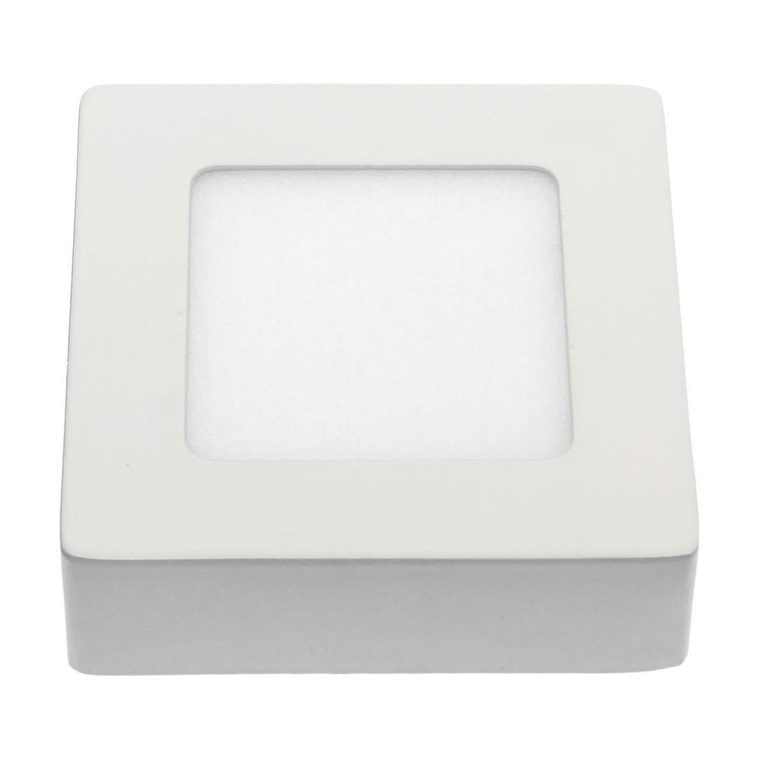 Algine Eco Led Square 230 V 6 W Ip20 Cw Decke WEISS Oberflächenrahmen