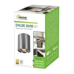 Chloe Gu10 Ip20 RUND Silber Einstellbare Öse small 2