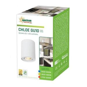 Chloe Gu10 Ip20 RUND WEISS Verstellbare Öse small 2