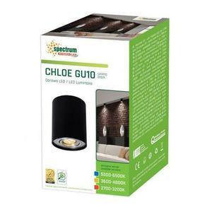 Chloe Gu10 Ip20 ROUND Schwarze verstellbare Öse small 2