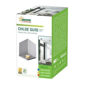 Chloe Gu10 Ip20 Square Silver Einstellbare Öse small 2