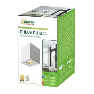 Chloe Gu10 Ip20 Square White Einstellbare Öse small 2