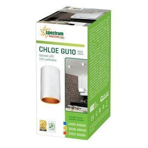 Chloe Gu10 Ip20 Tube Weiß GOLD Justiertes Auge small 2