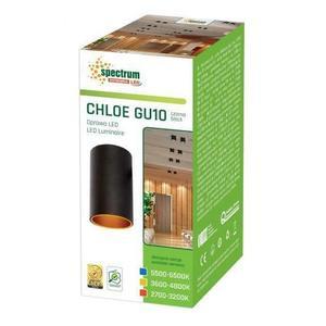 Chloe Gu10 Ip20 Tube Black Gold Eyelet Nicht reguliert small 2