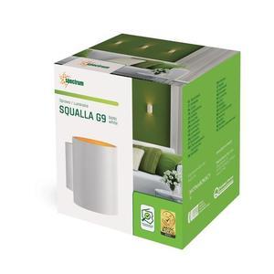 Squalla G9 Ip20 Tube Weiß und Gold small 2