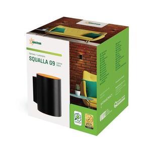 Squalla G9 Ip20 Schwarzgold Tube small 1