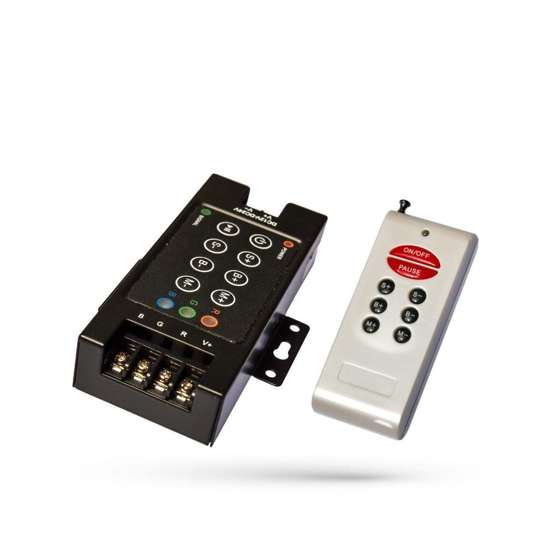 RGB-Controller Rf8 B mit Fernbedienung Do Pasków Led / For Led Strips
