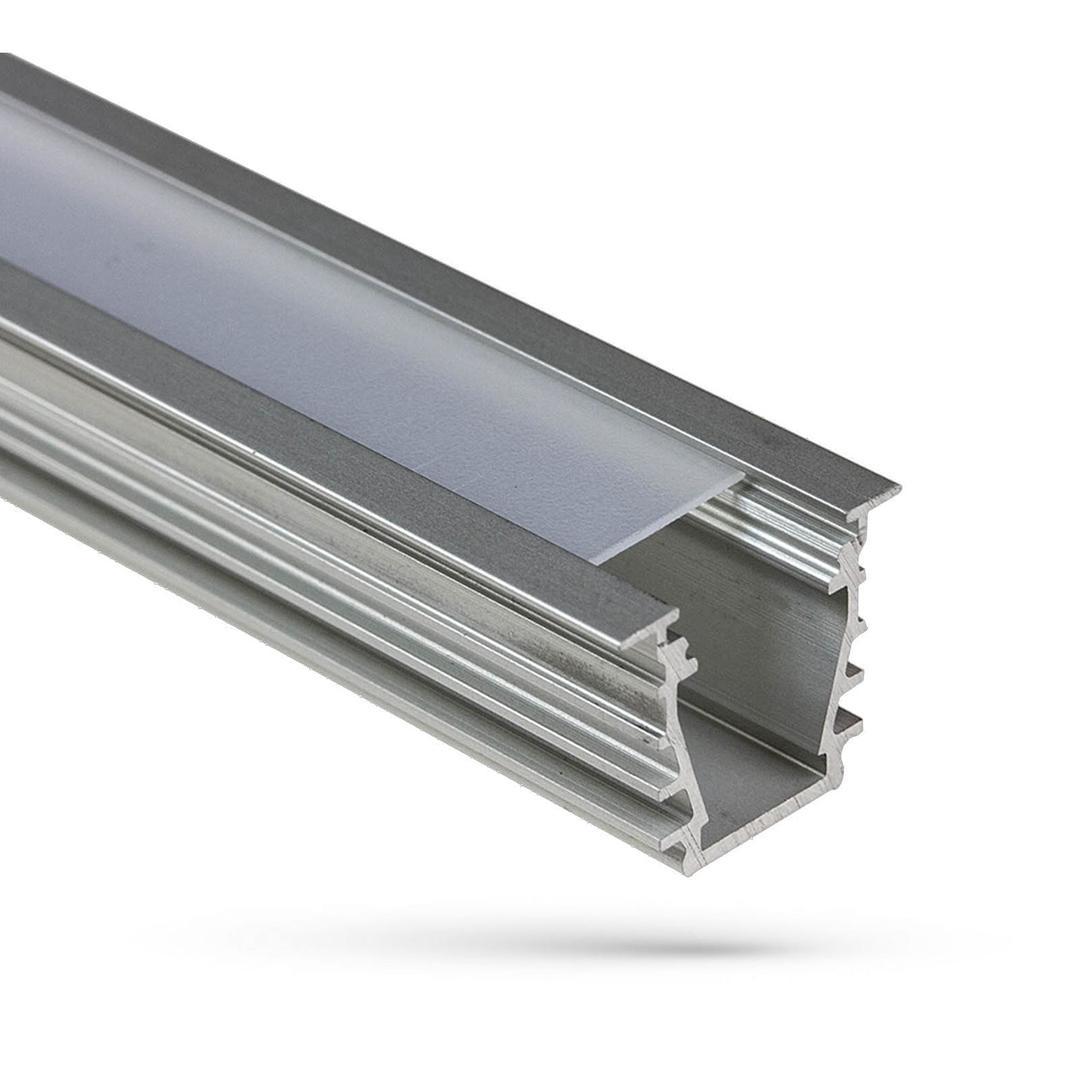 Aluminium Wojdeep Profil Mit Klarsichtdeckel 1 Mb Lampenschirm B