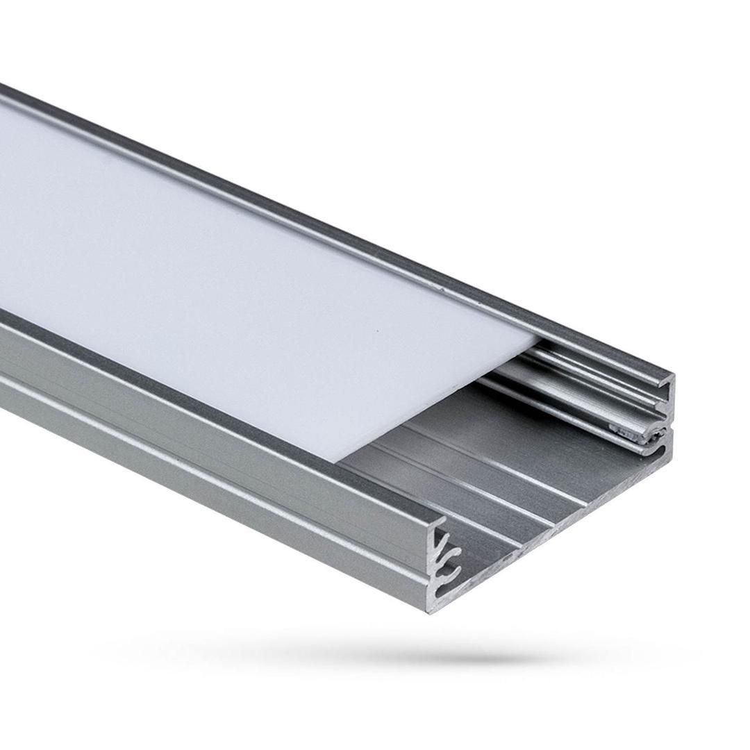 Wojwide Aluminiumprofil Mit Abdeckung Transparent 1 Mb Lampenschirm G