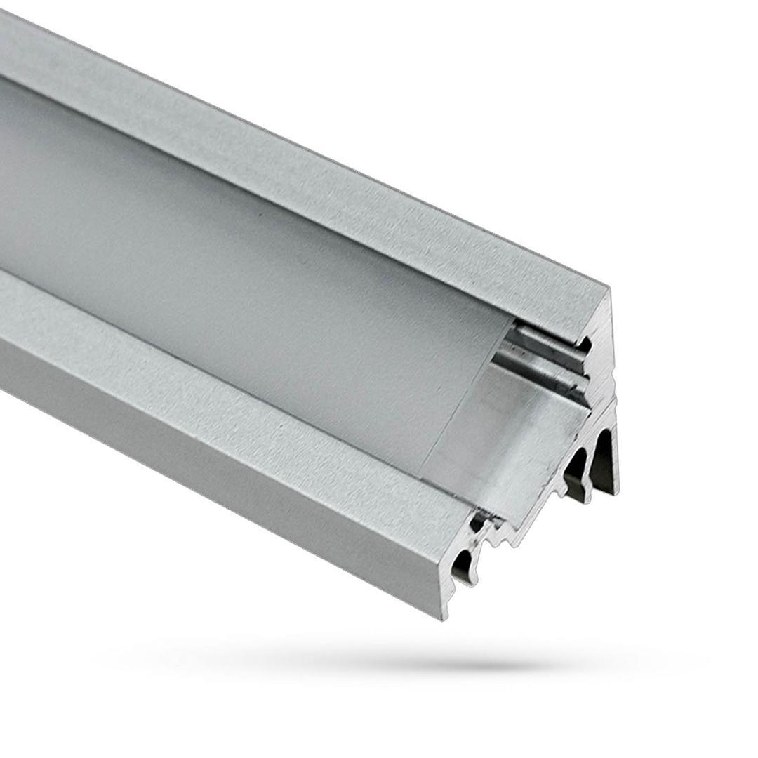 Wojcorner Aluminiumprofil Mit Abdeckung Transparent 1 Mb Lampenschirm B
