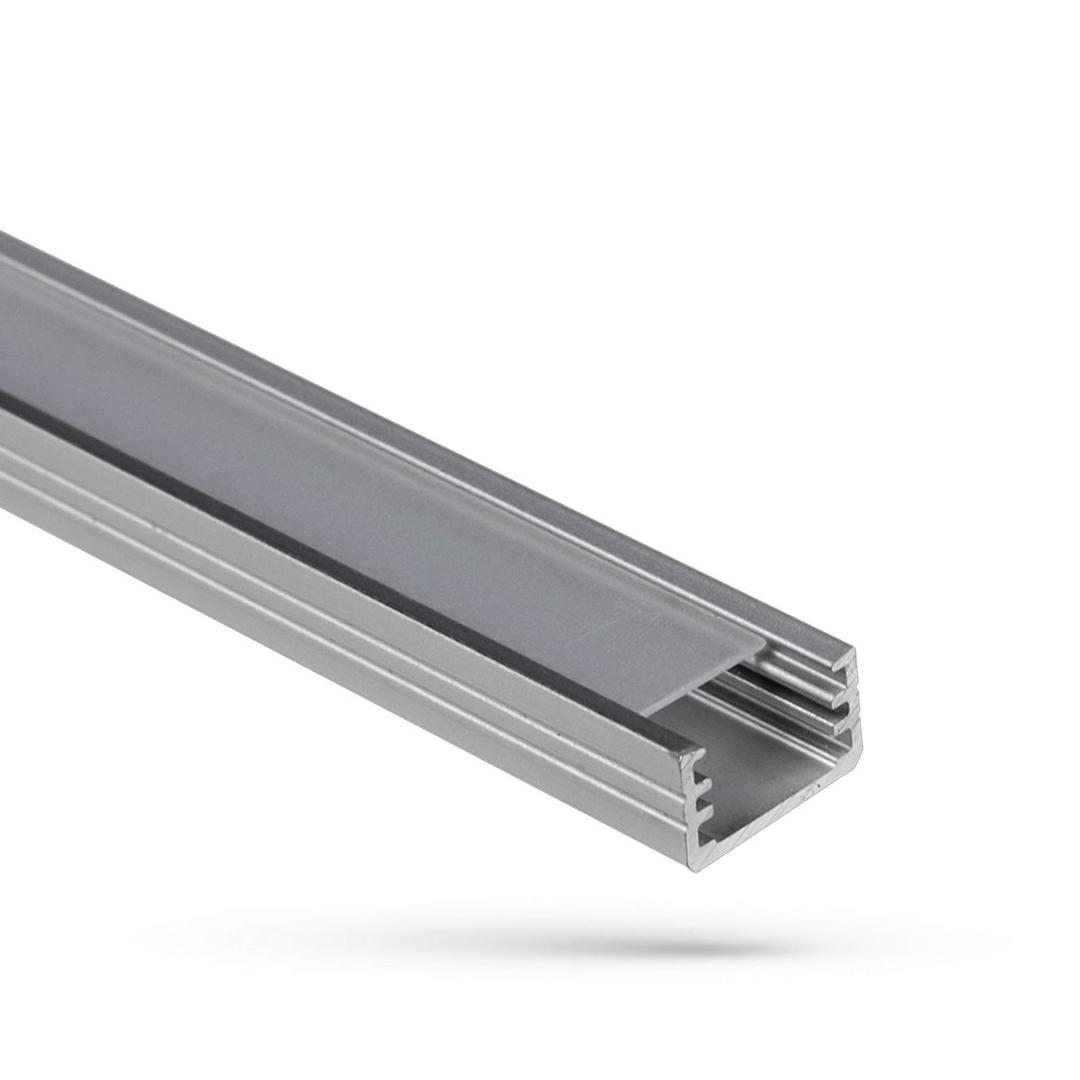 Wojslim Aluminiumprofil mit milchiger Abdeckung 2 Mb Abdeckung A