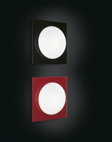 Wandleuchte Murano Due (Leucos) Mini Gio Schwarz / Weiß 40W G9
