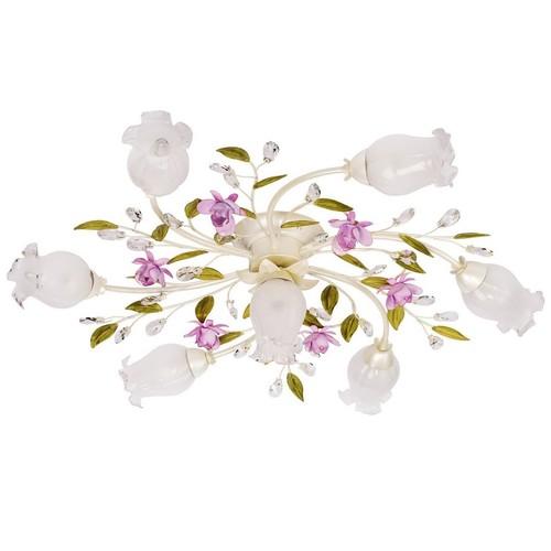 Hängelampe Provence Flora 7 Weiß - 422010607