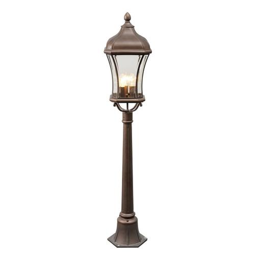 Gartenlampe Chateau Street 3 Braun - 800040203