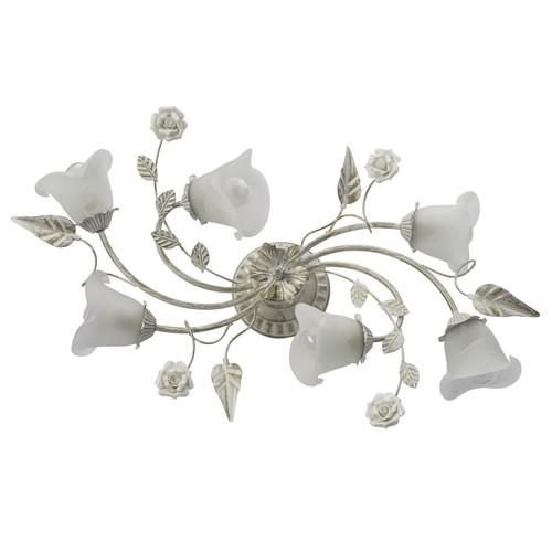 Decke mit Blumenmotiv Verona Flora 6 Weiß - 242014806