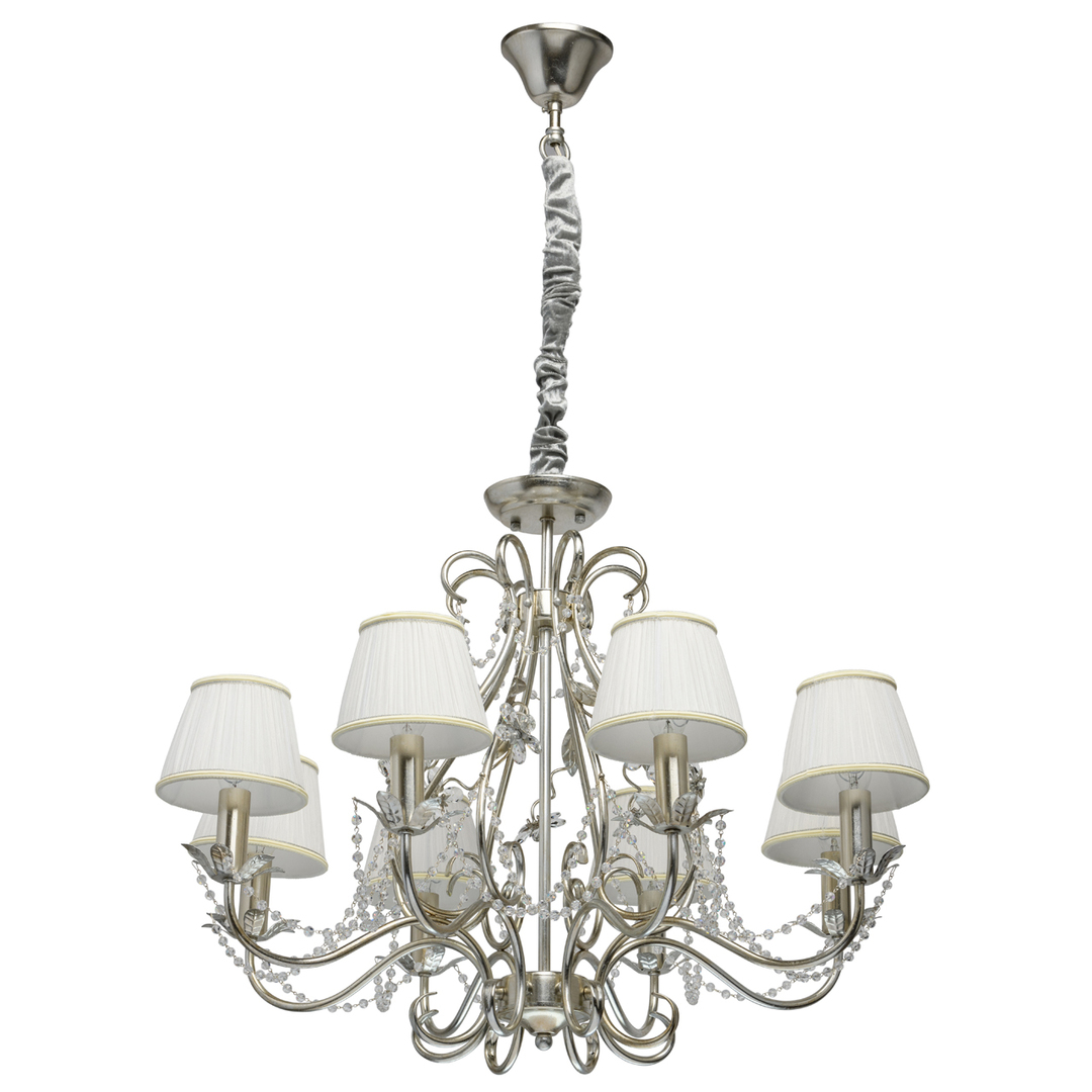 Hängelampe Valencia Elegance 8 Silber - 299011608