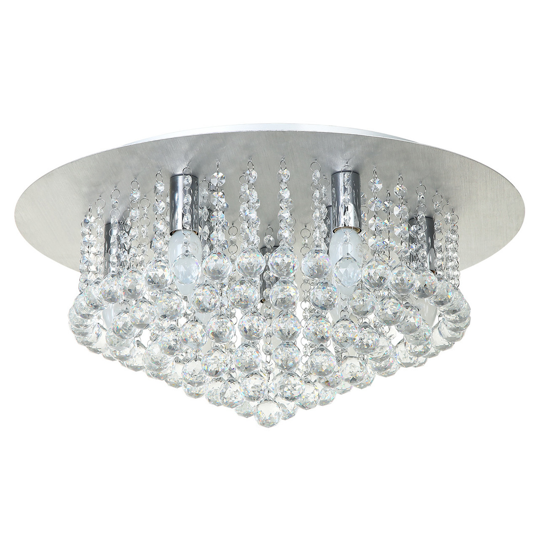 Hängelampe Venezia Crystal 9 Silber - 276014409