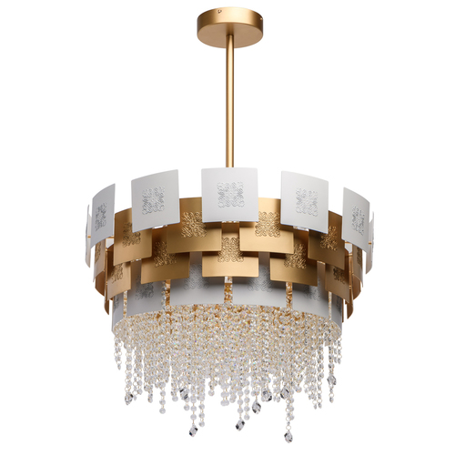 Hängelampe Carmen Crystal 6 Gold - 394011006