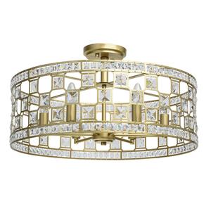 Hängelampe Monarch Crystal 6 Gold - 121011606 small 0