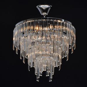 Pendelleuchte Adelard Crystal 5 Chrom - 642013305 small 1