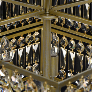 Hängelampe Monarch Crystal 6 Gold - 121012306 small 2
