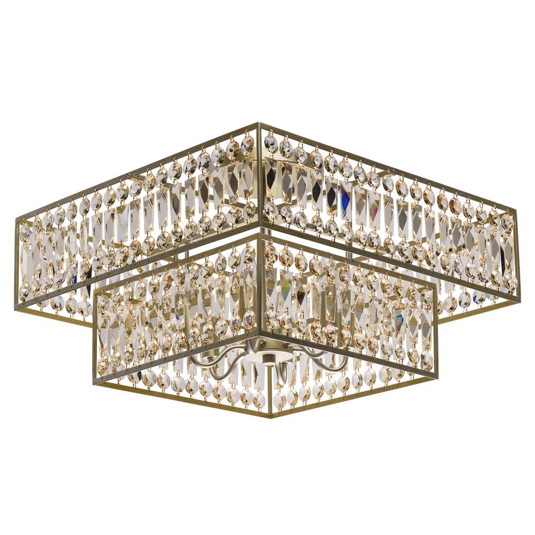 Hängelampe Monarch Crystal 6 Gold - 121012306