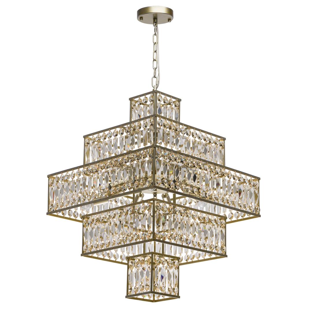 Hängelampe Monarch Crystal 16 Gold - 121012416