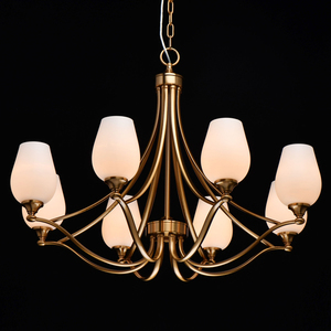 Pendelleuchte Palermo Elegance 8 Messing - 386016708 small 1