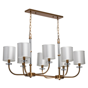 Pendelleuchte Palermo Elegance 8 Messing - 386017508 small 0