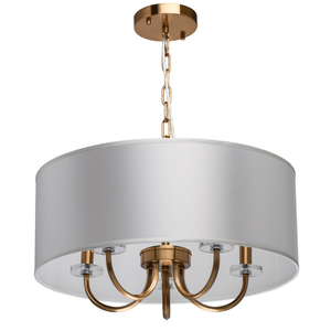 Pendelleuchte Palermo Elegance 5 Messing - 386017605 small 0