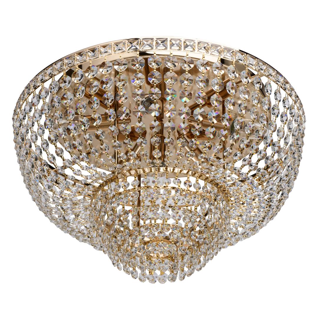 Hängelampe Patricia Crystal 6 Gold - 447011406