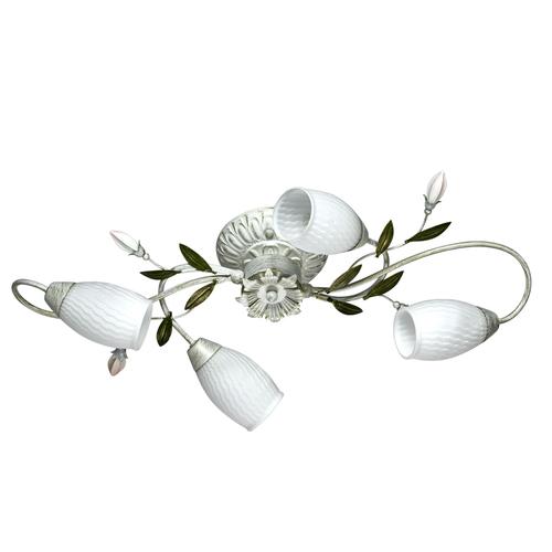 Hängelampe Verona Flora 4 Weiß - 334013804